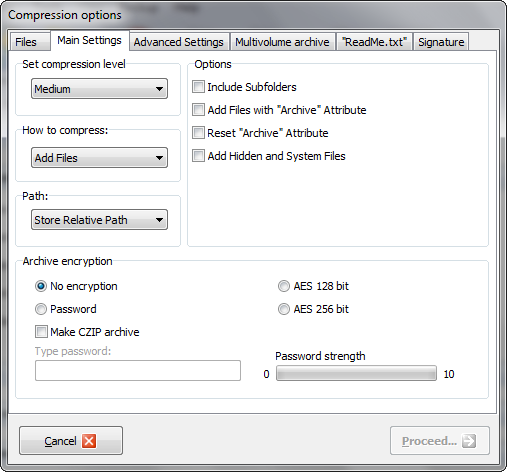 7 zip sfx command line options